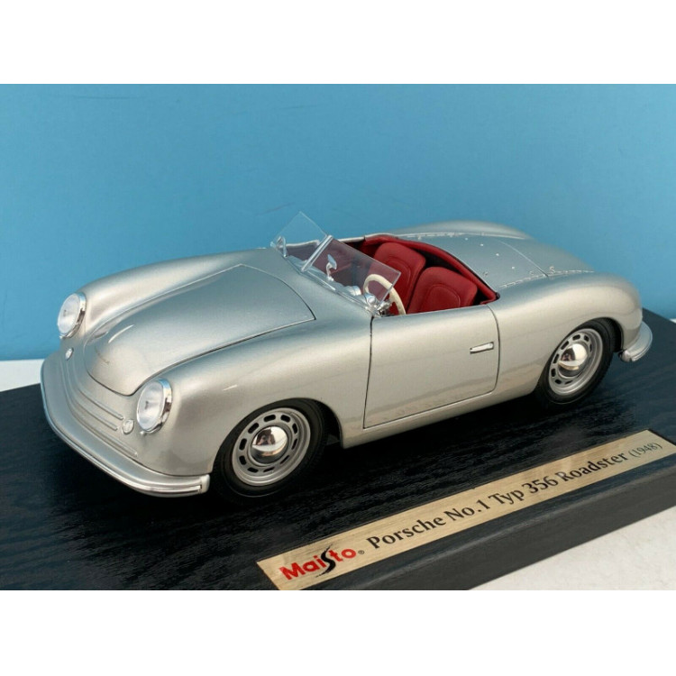 Lote 001 Maisto 1/18 Porsche Typ 356 Roadster Prata