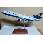 Lote 002 Miniatura Avião Varig Log DC-P