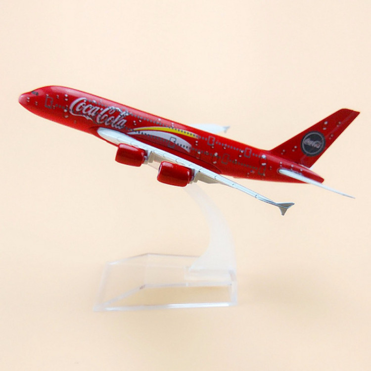 Lote 0074 Miniatura Avião Malaysia Airlines Airbus A380 Coca Cola