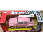 Lote 004 SL Shun Li Toys Fusca Rosa 1/32