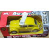 Lote 006 SL Shun Li Toys Fusca Amarelo 1/32