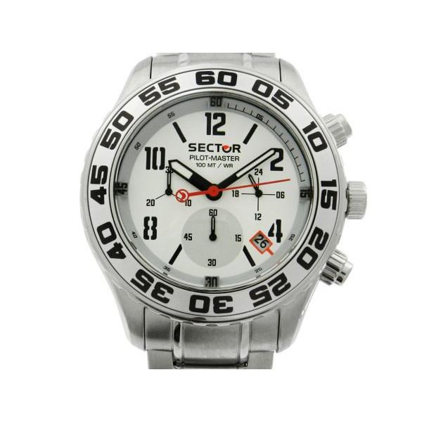 Lote 006 Relogio Sector Pilot Master Cronografo