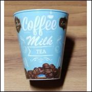 001 Caneca Cofee Milk Azul 360 ml Cor Caramelo