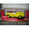 002 Chevy 1955 Coca Cola Stepside Pickup Escala 1:18 Amarelo
