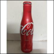 003 Coca Cola Garrafa de Aluminio Original 250 ml com Nome Rosa