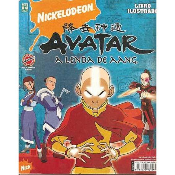 Figurinhas do Album Avatar A Lenda de Aang 2008 Abril