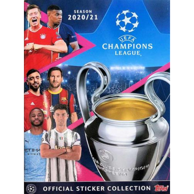 Album Uefa Champions League 2020 2021 Vazio Ano 2020 Topps